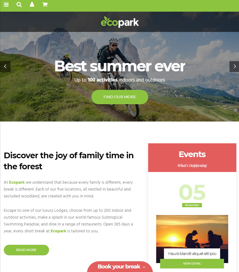Ecopark-WordPress-camping-theme