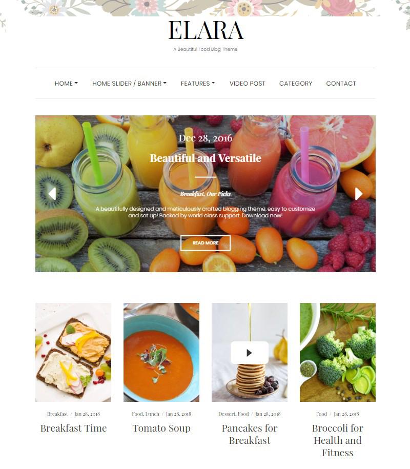 Elara-free-food-blog-theme-WordPress
