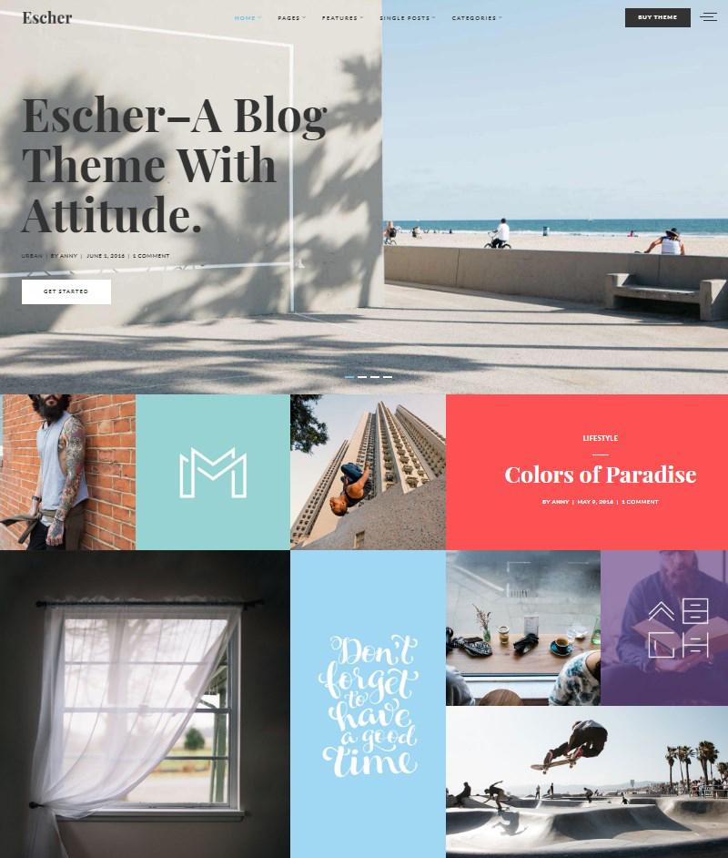 Escher-blog-template-WordPress