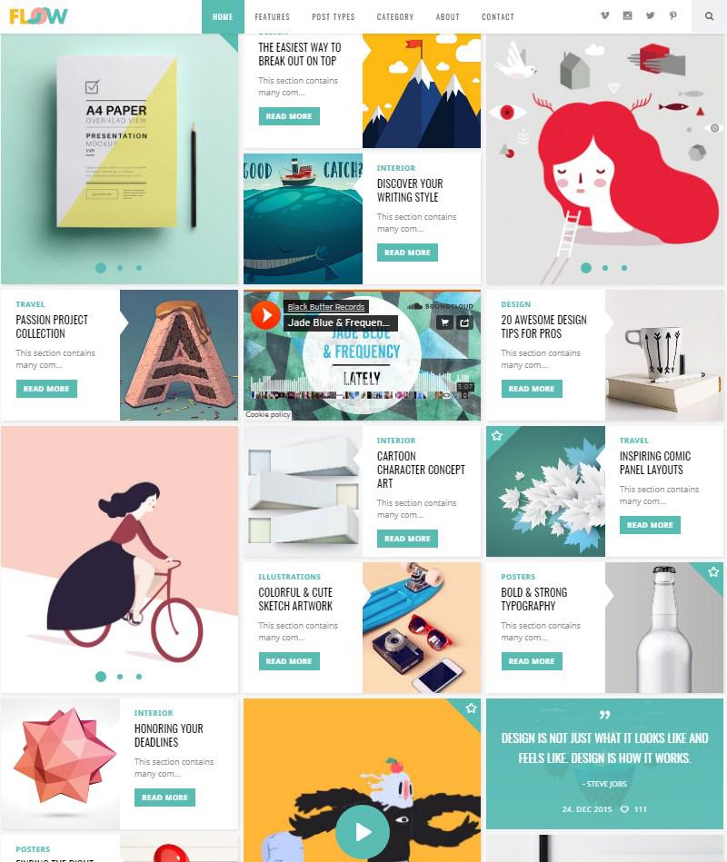 Flow-WordPress-theme-for-blogs