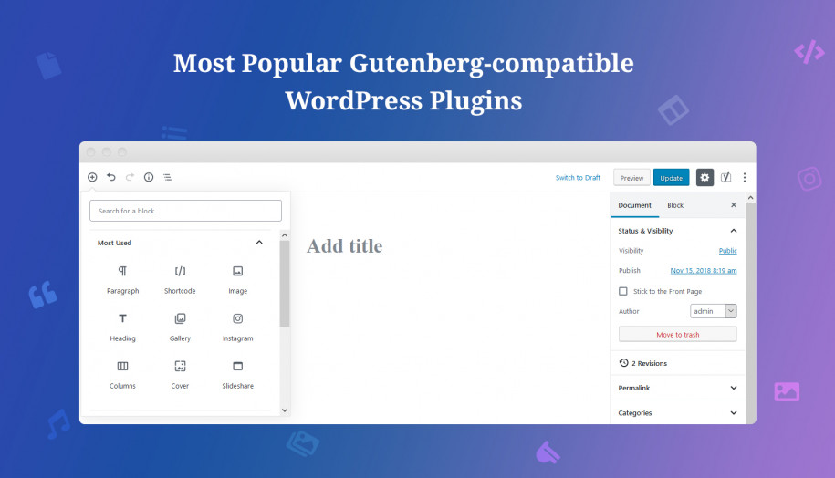 Gutenberg integration plugins