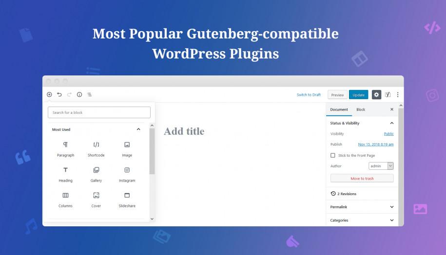 Gutenberg integration plugins