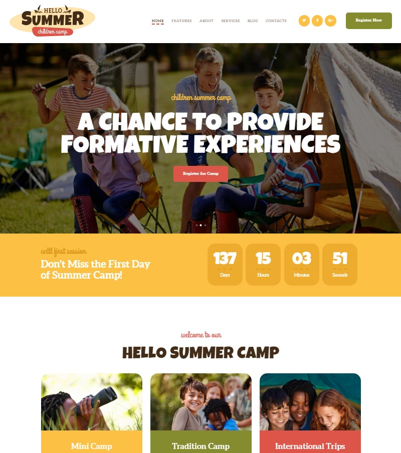 Hello-Summer-summer-camp-WordPress-theme