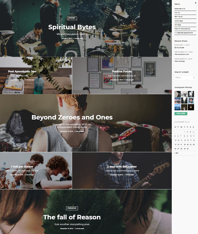 Ink-blogging-theme-for-WordPress