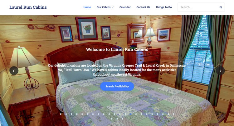 laurel run cabins alpenhouse vacation rental wordpress theme