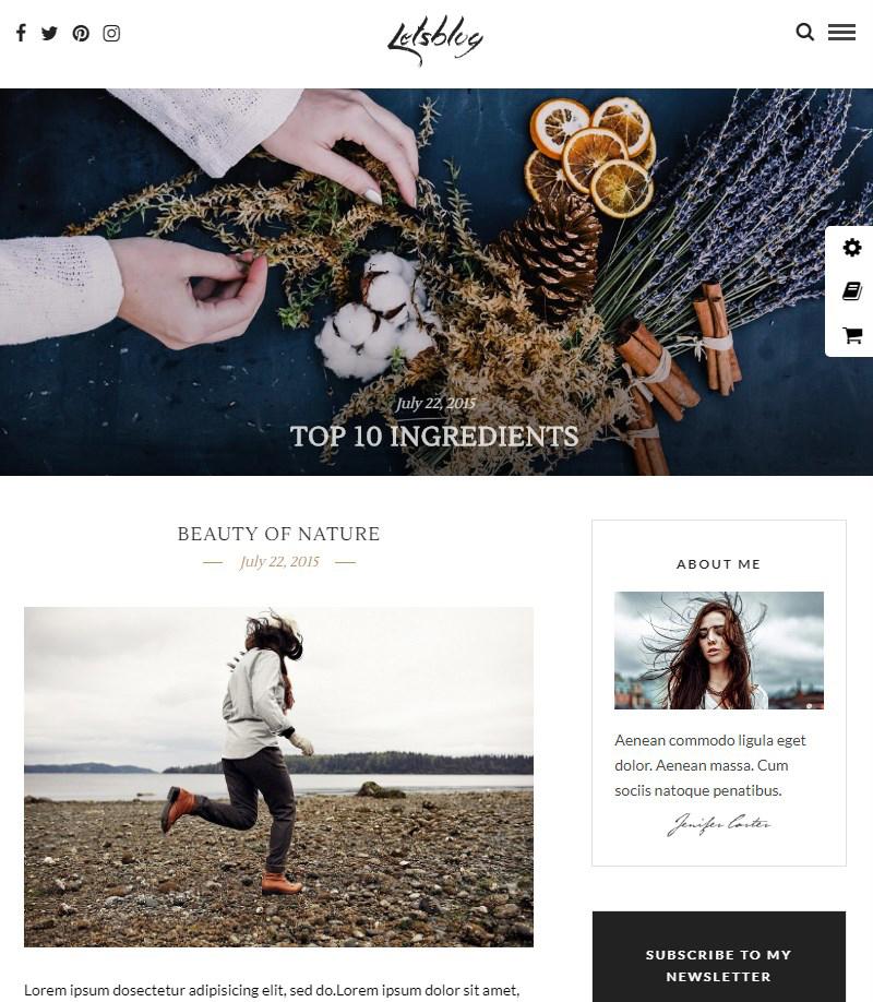 Lets-Blog-blog-template-WordPress