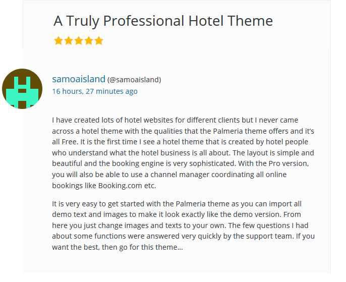 palmeria hotel theme review