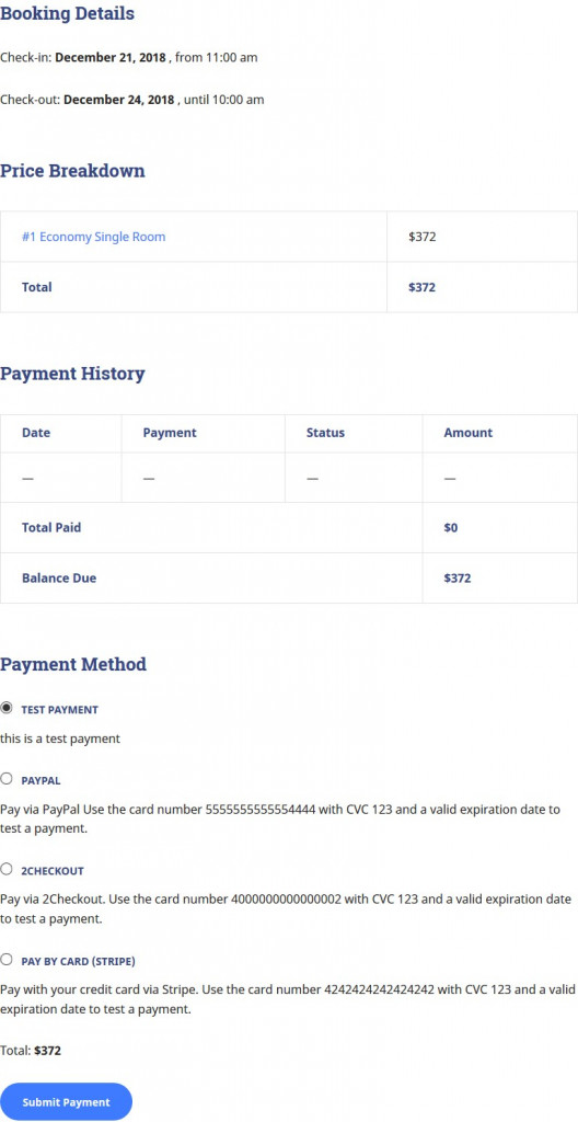 pay balance via website