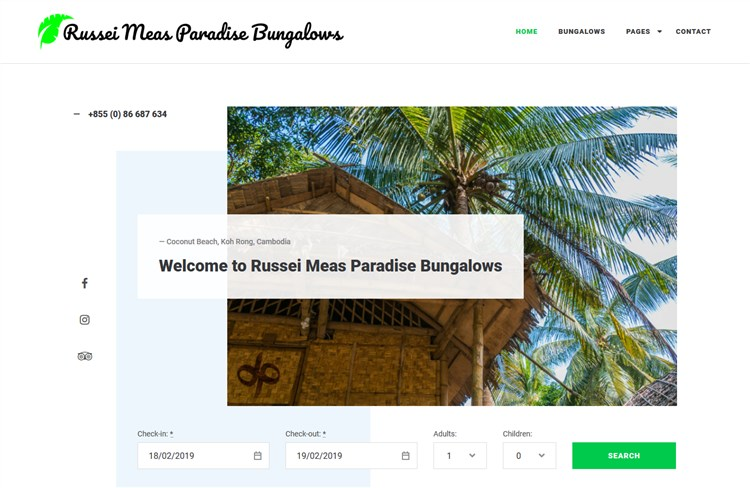 russei meas paradise bungalows ciestra resort wp theme