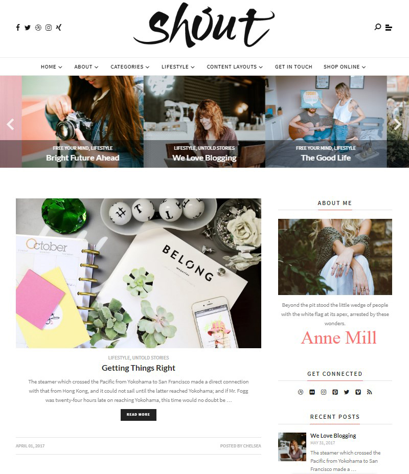 Shout-blog-templates-WordPress