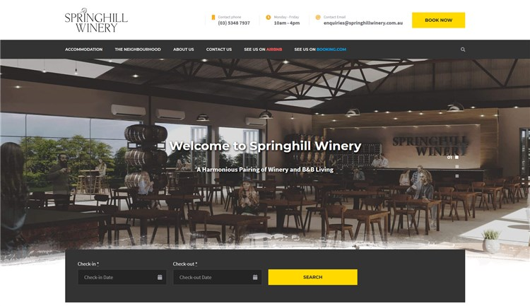 springhill winery best camping theme wp