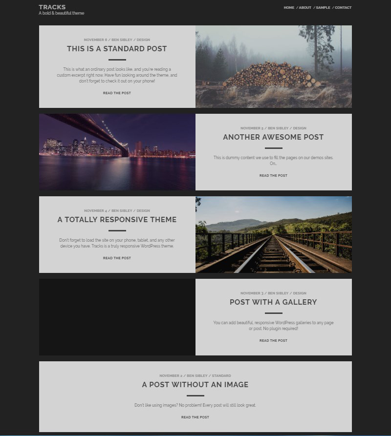 Tracks-free-WordPress-blog-template