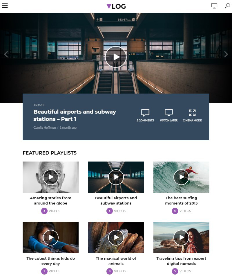 Vlog-vlogging-theme-WordPress