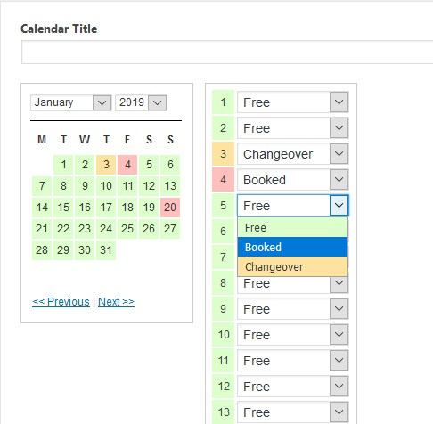 wp simple booking calendar admin