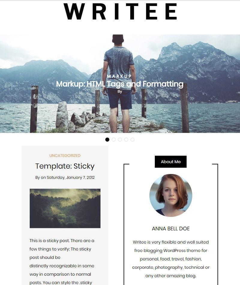 Writee-free-blog-themes
