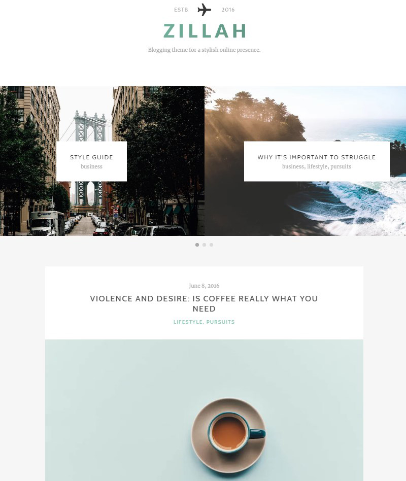 Zillah-WordPress-blogger-theme