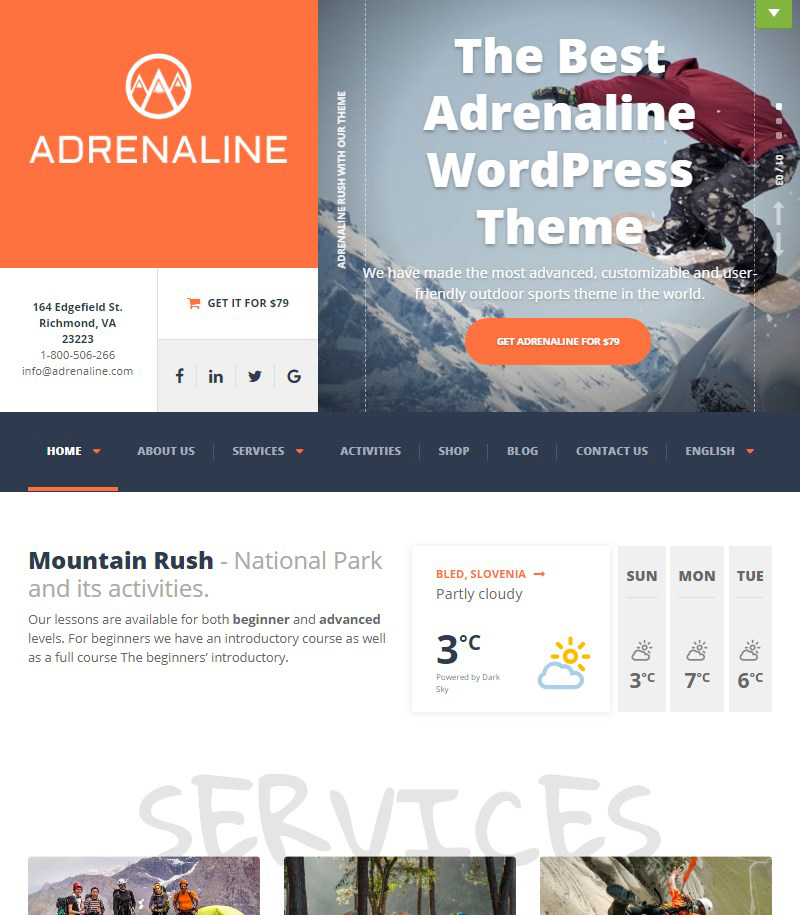extreme-sports-WordPress-theme