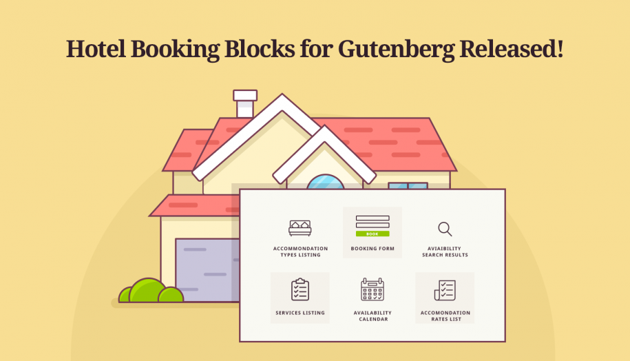 motopress hotel booking blocks gutenberg