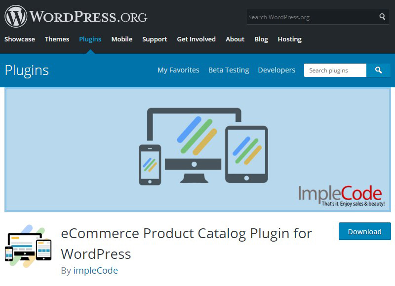 Product Catalog Plugin WordPress