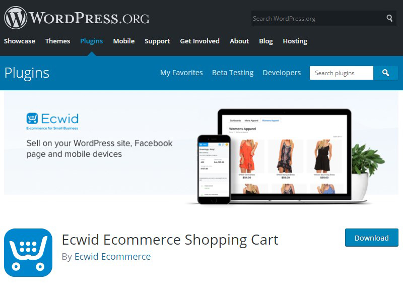 Ecwid WordPress online shop plugin