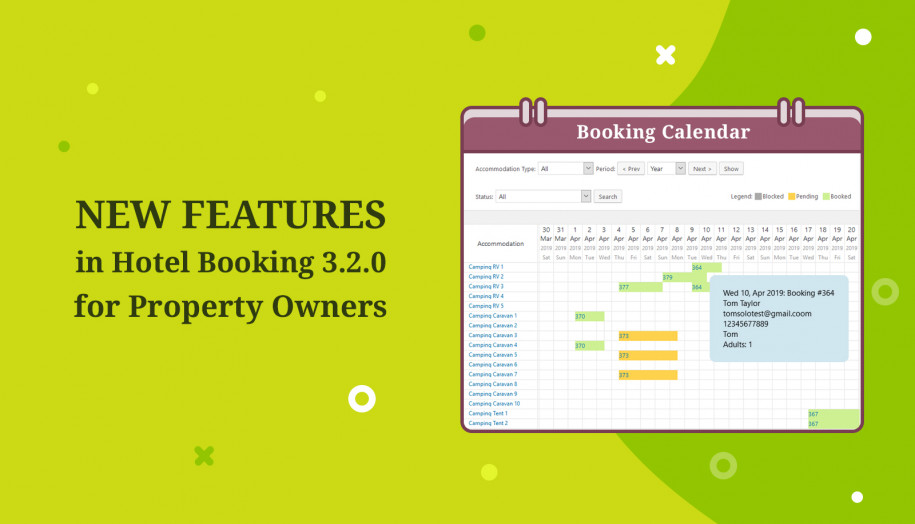 WordPress hotel booking for property owners