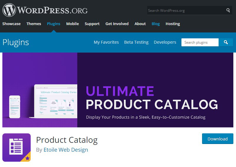 Ultimate Product Catalog WordPress plugin