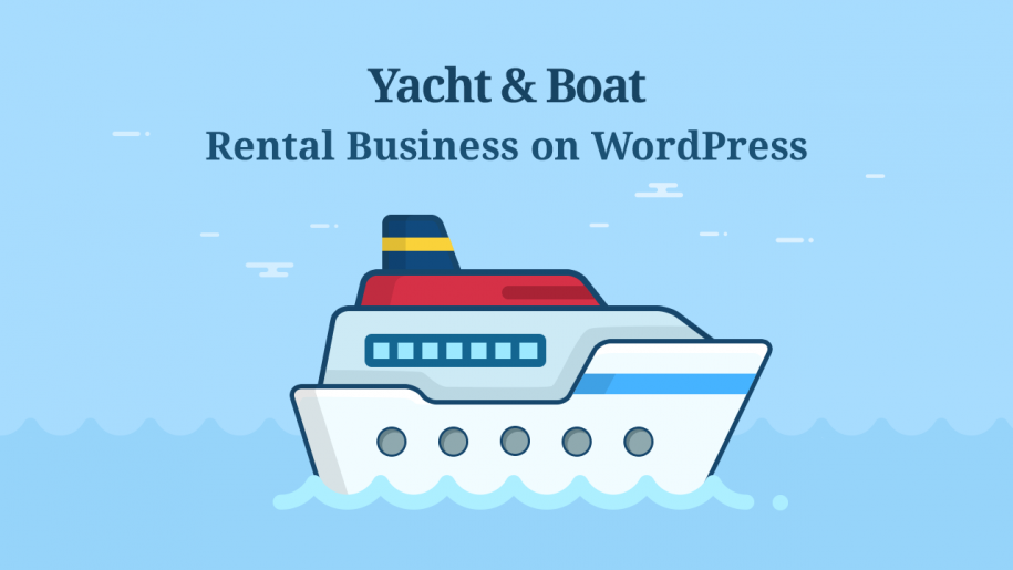 yacht rental website for small business