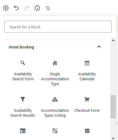 hotel booking blocks wordpress