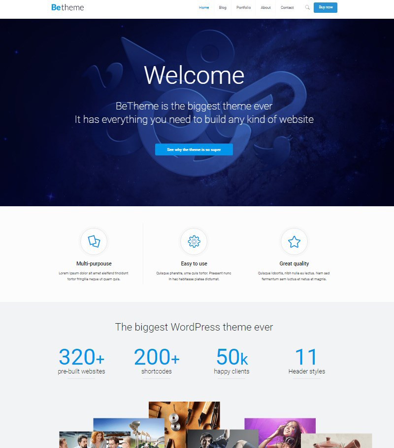 Be Theme premium theme WordPress