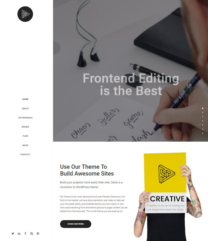 Cesis multipurpose WordPress premium theme