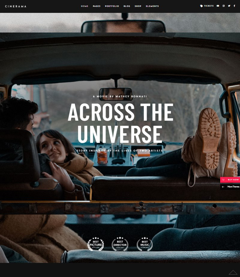 Cinerama WordPress movie theme