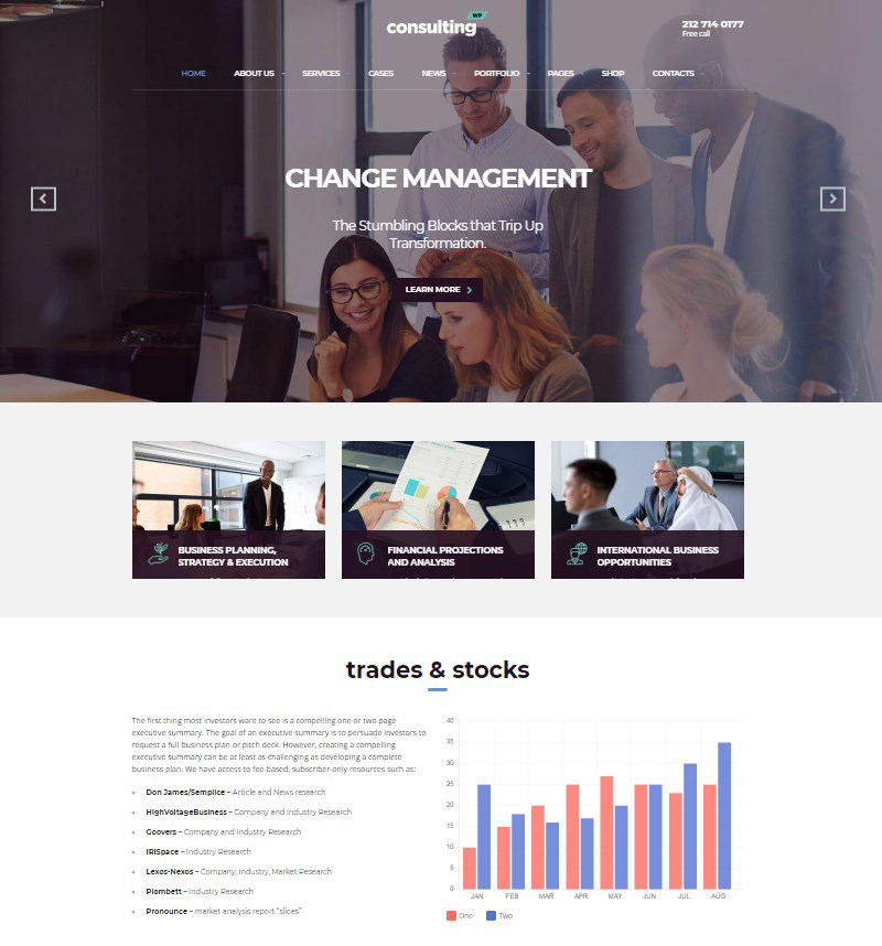 Consulting corporate WordPress theme