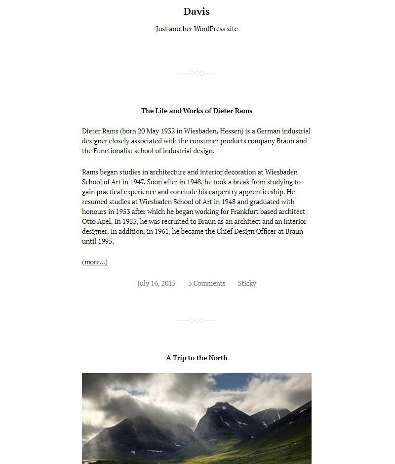 Davis WordPress Gutenberg theme free