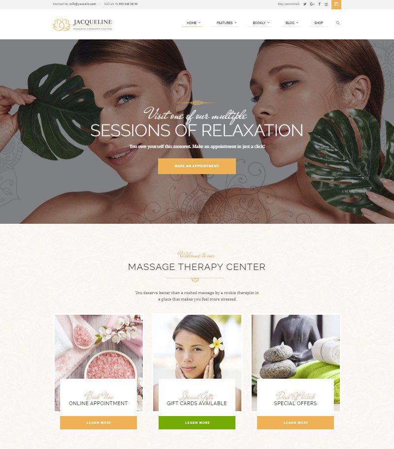 Jacqueline Health and Beauty WordPress theme