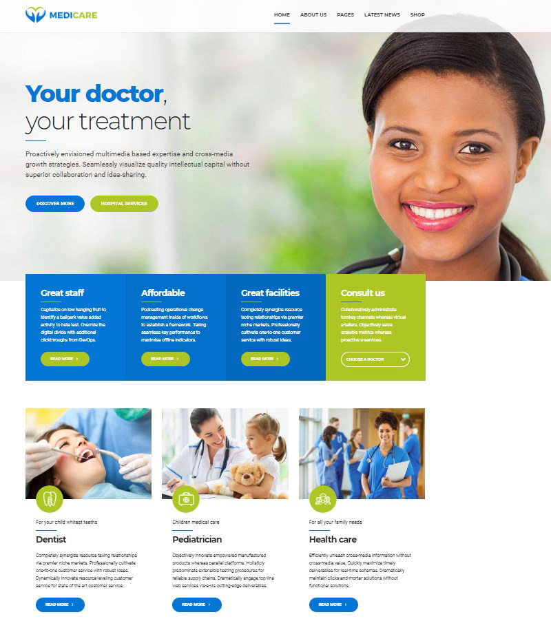 Medicare medical multipurpose WordPress theme