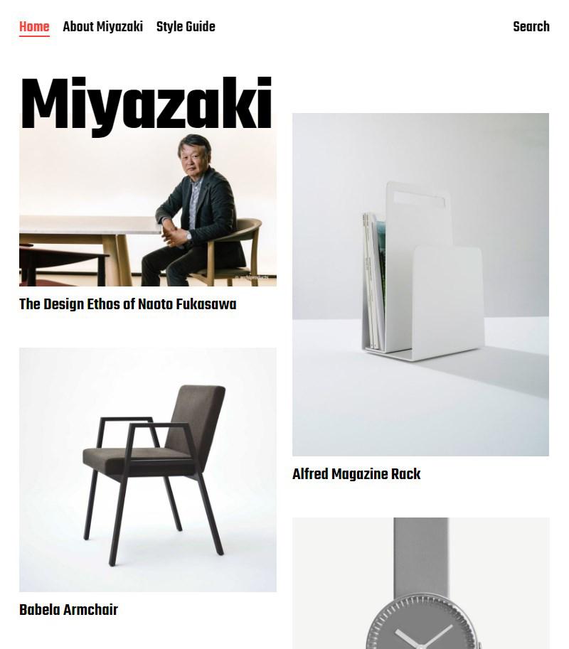 Miyazaki Gutenberg portfolio free WordPress theme