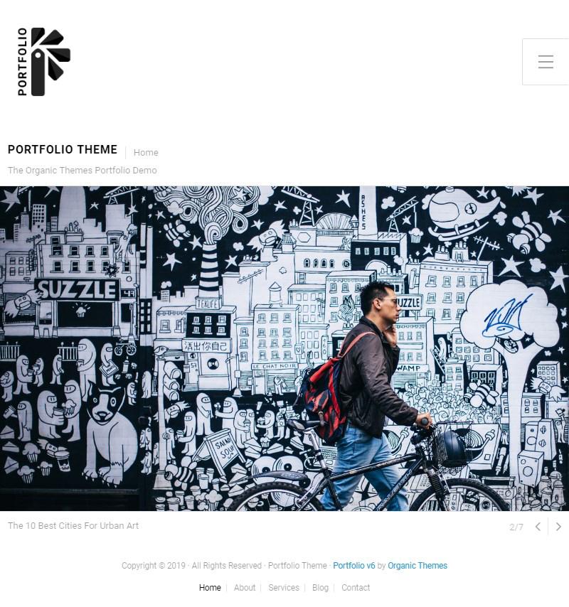 Portfolio theme free WordPress Gutenberg theme for online portfolios