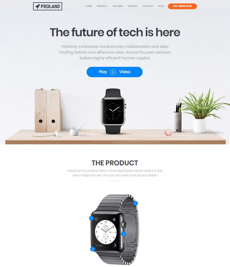 WordPress Product Landing Page Theme