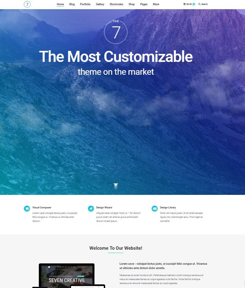 The7 multipurpose website building toolkit for WordPress