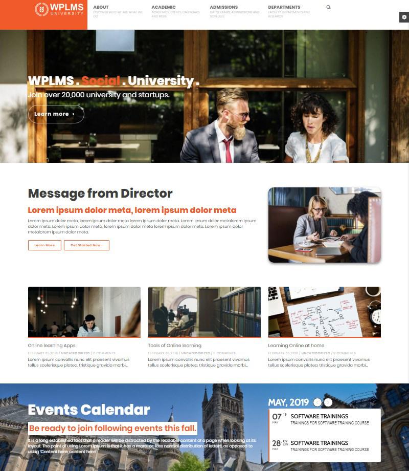 WPLMS WordPress education theme