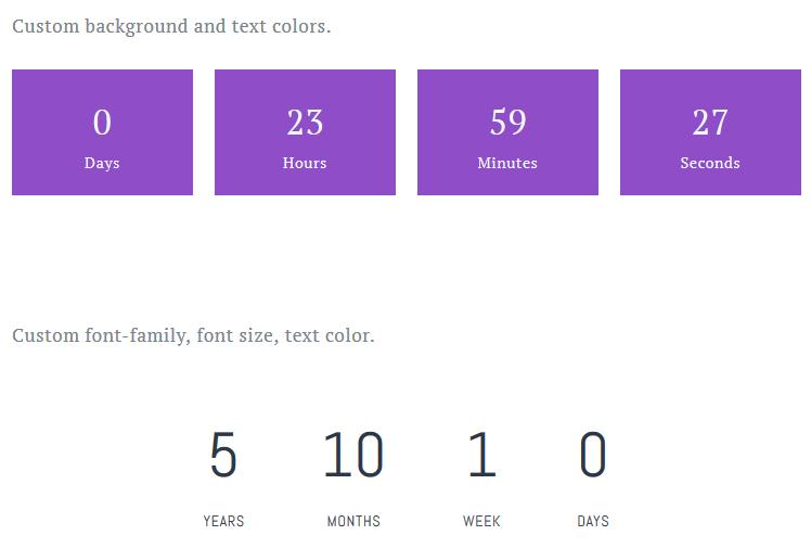 countdown timer block getwid
