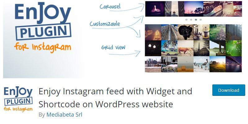 Enjoy Instagram Feed WordPress plugin