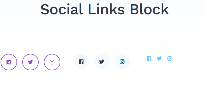 getwid social links block featured