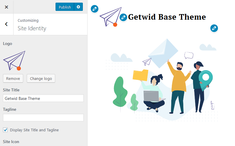 getwid wordpress blocks site identity