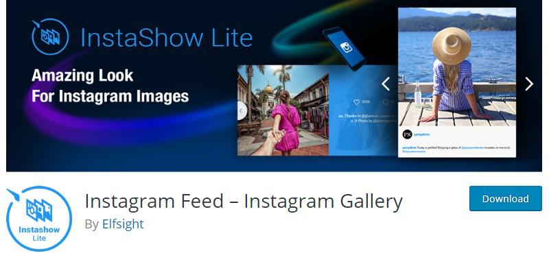 Instashow Instagram feed WordPress plugin