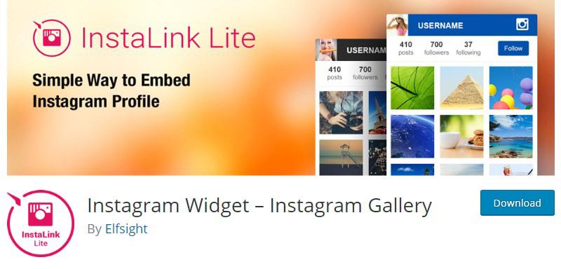 Instagram Widget InstaLink Lite WordPress plugin