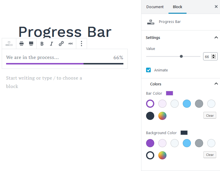 progress bar featured