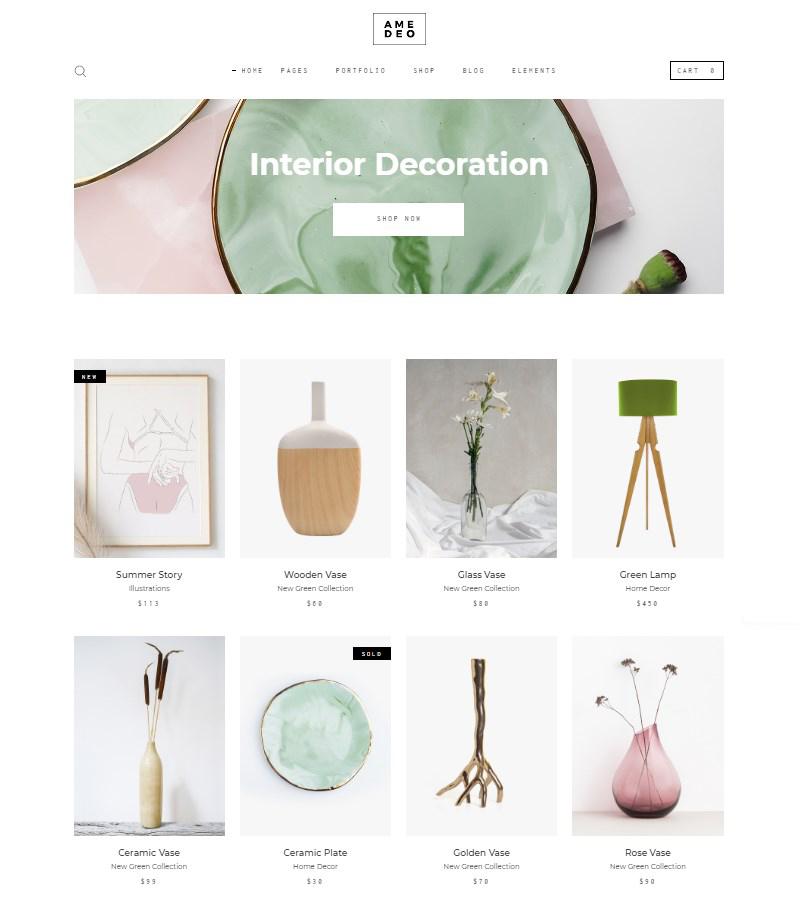 Amedeo WordPress theme for artists