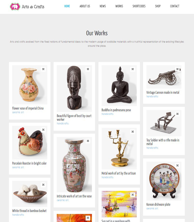 Crafts and Arts handicraft WordPress theme