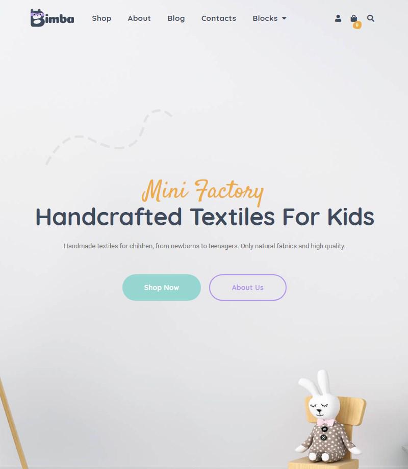Bimba Handmade & Craft WordPress theme